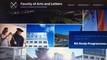 Filozofická fakulta KU spustila anglickú verziu svojej webstránky