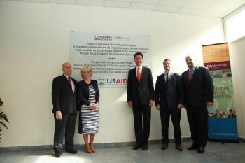 Vysoká škola manažmentu a CityU získali grant USAID na obnovu školy