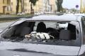 Krúpy v Košiciach rozbíjali autá