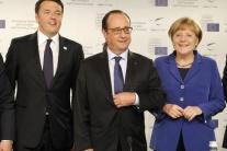 VIDEO: Merkelová, Hollande a Renzi chcú zintenzívniť spoluprácu obrany