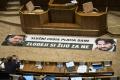 I. Matovič transparentom zablokoval odvolávanie R. Kaliňáka