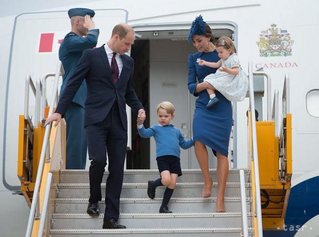 Princ William, Kate a deti pricestovali na návštevu Kanady