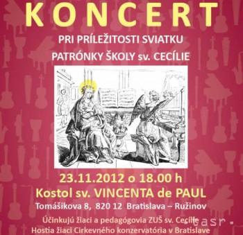 Koncert pri príležitosti sv. Cecílie - patrónky hudby a hudobníkov