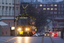 električka, Vianoce, Bratislava, vianočná električ