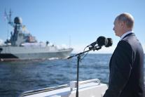 Sviatok Deň námorníctva v Petrohrade