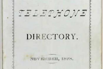 Prvý telefónny zoznam vyšiel v tlači pred 140 rokmi v meste New Haven