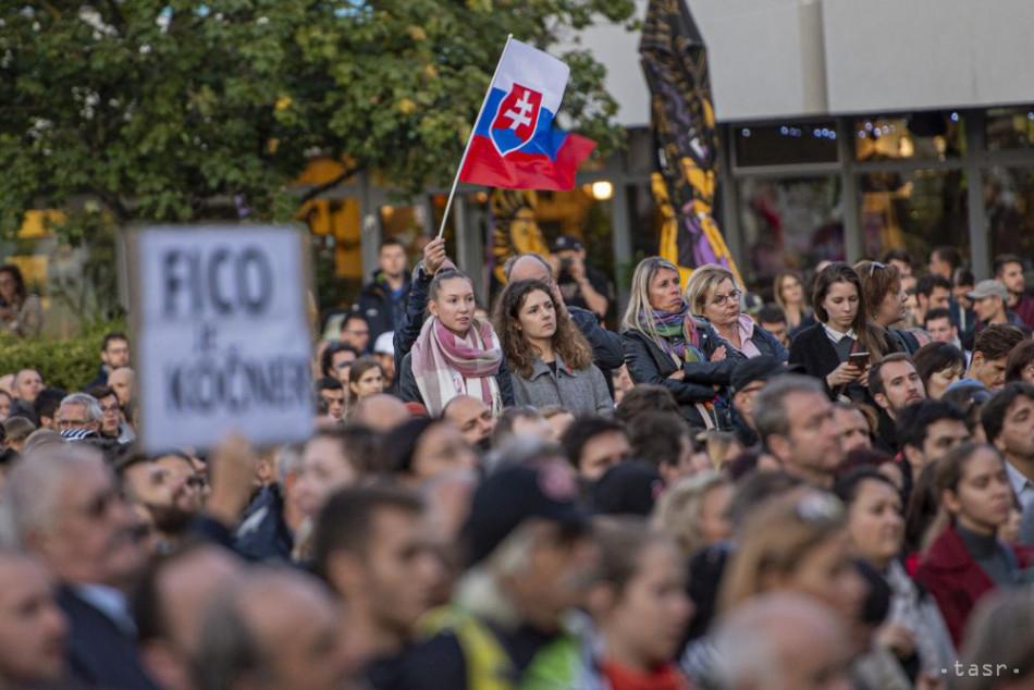 Protesty Za slušné Slovensko pokračujú, dôvodom je kauza Gorila