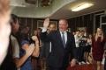 Prezident Andrej Kiska navštívil gymnázium v Krompachoch