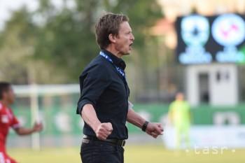 Na snímke tréner Skalice Jozef Kostelník v barážovom zápase o Fortuna ligu MFK Skalica - FK Senica v Senici 22. mája 2018.