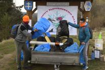 Zbieranie odpadkov v Slovenskom raji