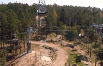 V švédskom safari parku prepravuje ponad divočinu lanovka
