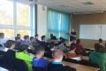 Dado Nagy medzi študentmi prešovskej SPŠE