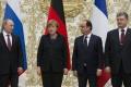 Putin, Merkelová, Hollande, Porošenko hovorili o konflikte na Ukrajine