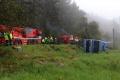 Hasiči zasahujú pri nehode áut medzi Sencom a Bernolákovom