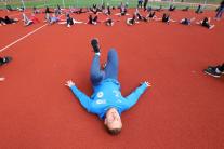 Spoločný atletický tréning v Brezne