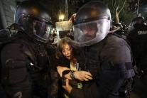 Protesty v Barcelone