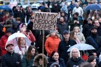 Protestné zhromaždenie Za slušné Slovensko v Nitre