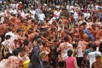 Šiesty rajčinový festival v Kolumbii
