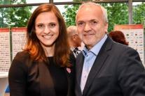 Jozef Korbel (vpravo) s Dankou Bartekovou