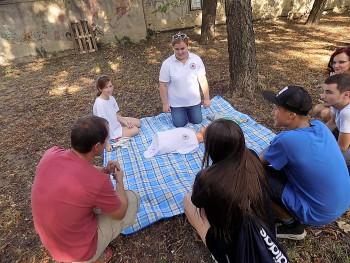 Prvá pomoc v Public parku