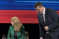 Víťazi 1. kola Z. Čaputová a M. Šefčovič v RTVS