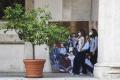 Demonštrantov proti povinným covidpasom v Terste rozohnala polícia