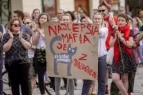Protestné zhromaždenie Za slušné Slovensko v Bansk