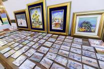 Obrazy na vernisáži výstavy Slovenské insitné mali