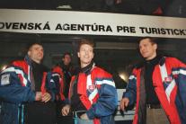 Róbert Pukalovič (vľavo) so spoluhráčmi
