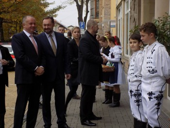 Prezident Slovenskej republiky Andrej Kiska dnes navštívil Nové Zámky