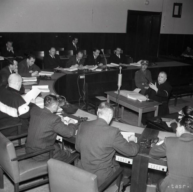 Zábery zo súdnej siene, 2. 12. 1946. Foto: TASR / K. Cích