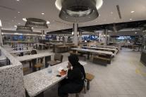 Food court v obchodnom dome v Kuala Lumpur