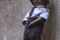 Manneken-Pis, cikajúca postavička mnohých tvári