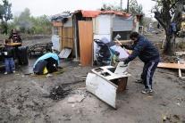 Likvidácia nelegálnej rómskej osady v Košiciach