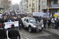 Protest farmárov a potravinárov v Bratislave
