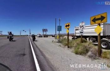 UNIKÁTNY VIDEOPROJEKT: Na motorke po divokom západe cez púšť Mohave