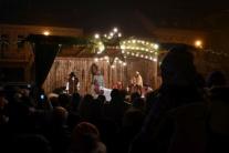 Živý betlehem na námestí v Poprade