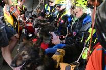 Letecký výcvik záchranárskych kynológov HZS