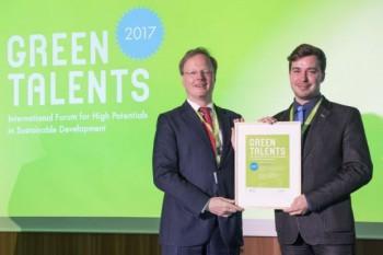 Učiteľ z Nitry získal prestížne ocenenie Green Talents v Berlíne