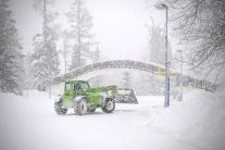 Husté sneženie vo Vysokých Tatrách