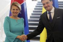 Zuzana Čaputová a Olexij Hončaruk