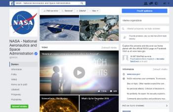 NASA je aj na sociálnych sieťach, zverejňuje úžasné fotky a videá