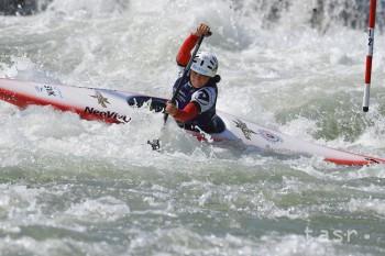 Na snímke slovenská vodná slalomárka Soňa Stanovská na trati kategórie C1 junioriek počas finálovej jazdy  Majstrovstiev Európy juniorov a do 23 rokov v kanoistike na divokej vode - vo vodnom slalome, v Čunove 18. augusta 2018.